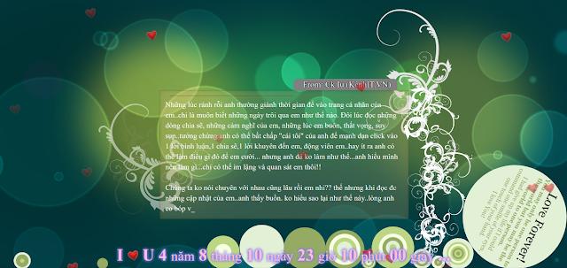 Code Web HTML5 đếm ngày yêu, gửi lời yêu đến người ấy tuyệt đẹp