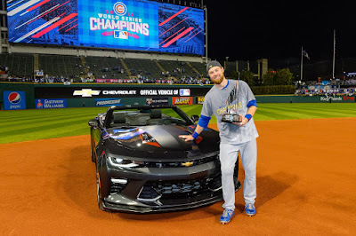 Ben Zobrist, World Series MVP Receives Chevrolet Camaro