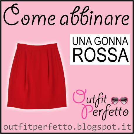 b61d01e957 Outfit Perfetto: Come abbinare una GONNA ROSSA (outfit Autunno/Inverno)