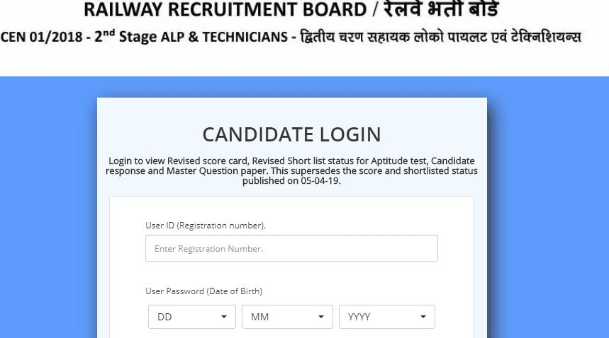 Railway ALP 2nd Exam Result