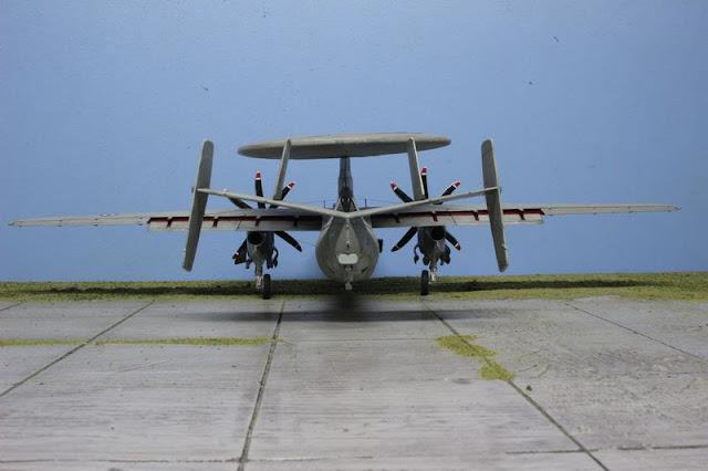Maquette de l'E-2C Hawkeye d'Italeri au 1/48.