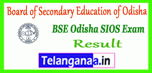 BSE SIOS Odisha State Institute of Open School 10th Result