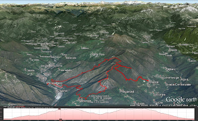 Hiking route from San Pellegrino to Pizzo di Spino and Bracca