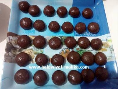 حلوة المشقوق بالشوكولاته ولا أسهل