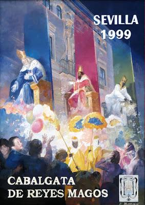 Cartel de la Cabalgata de Reyes Magos de Sevilla - 1999 - F. Borrás