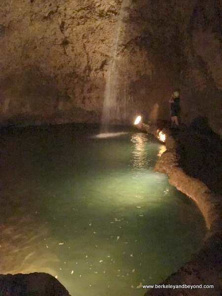 lake inside Harrison's Cave in Barbados
