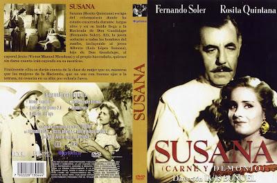 Cover Dvd: Susana (Demonio y carne) | 1950  | Carátula, Cine clasico mexicano