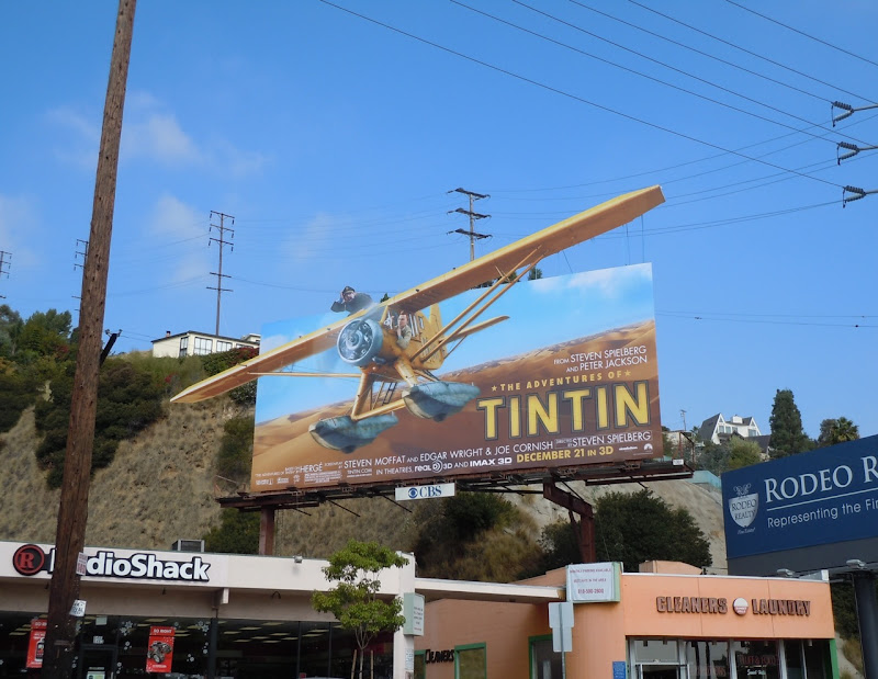 Adventures of Tintin movie billboard