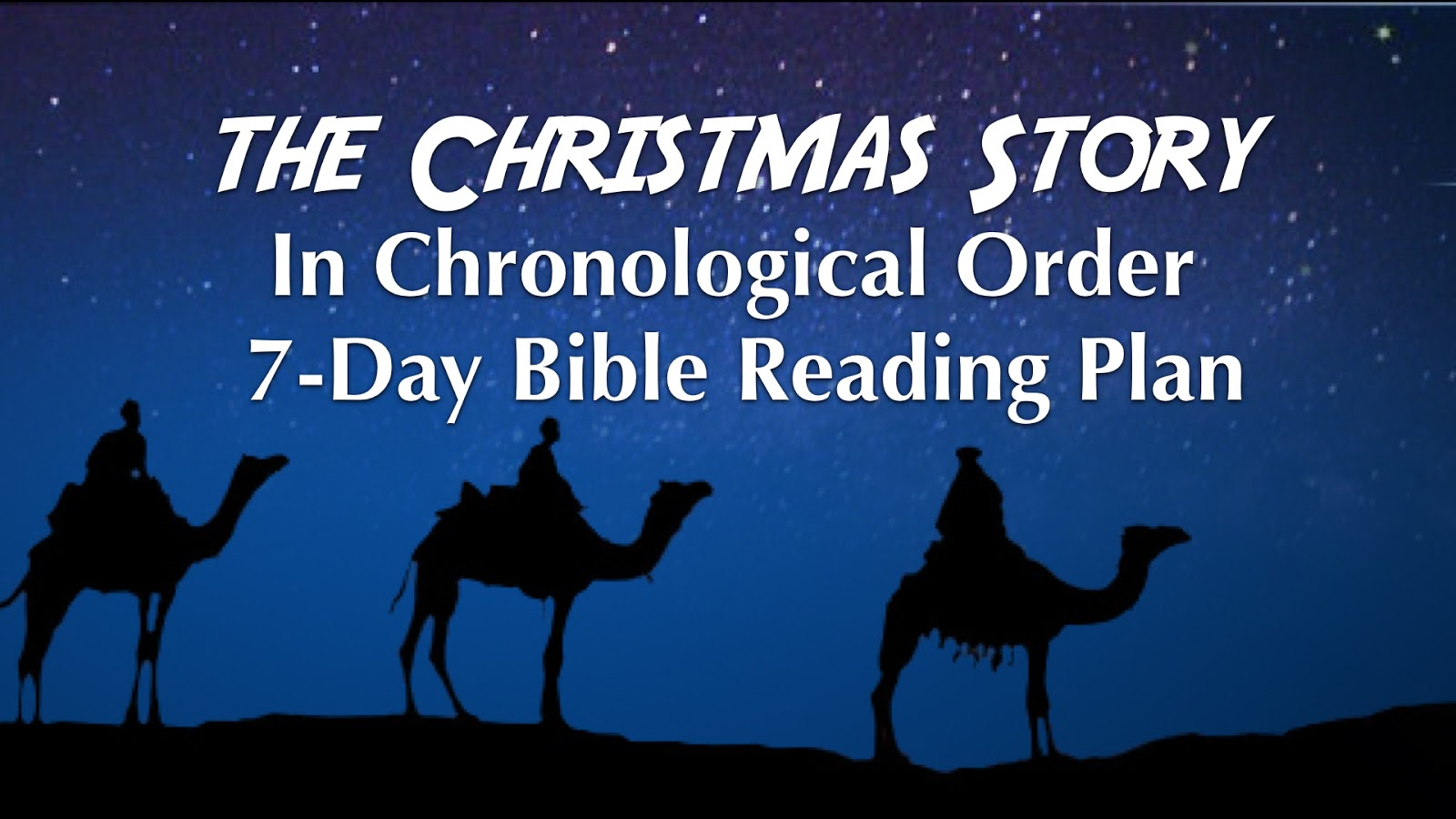 Chip Vickio S Blog The Chronological Christmas Story