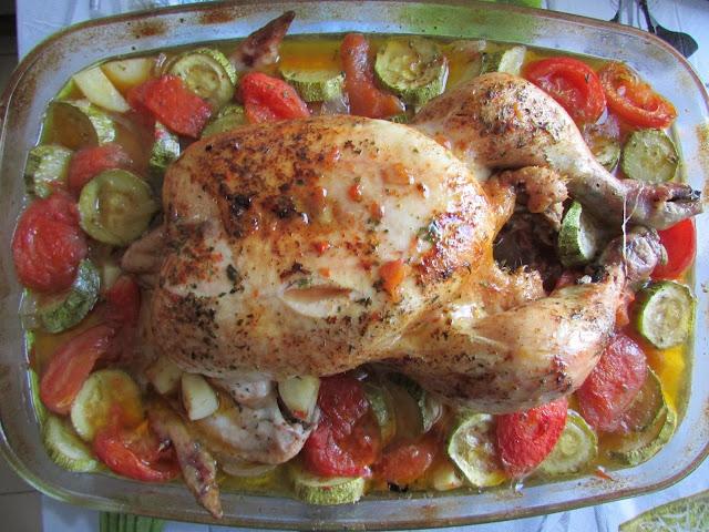 kurczak w warzywach