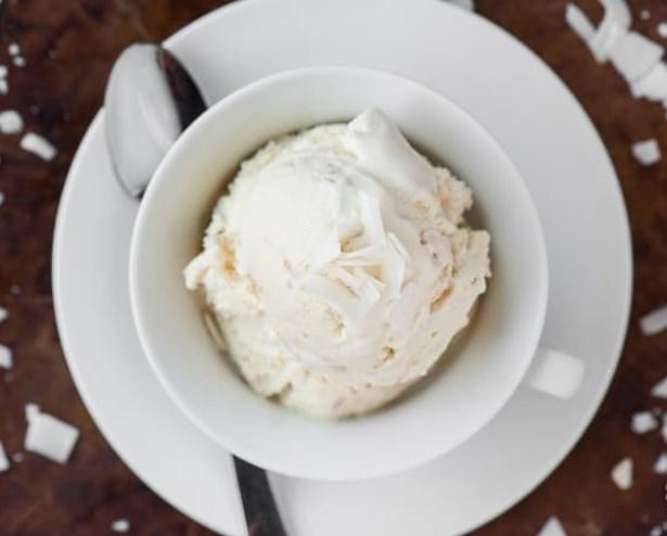Coconut Ice Cream #homemade #desserts