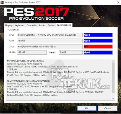 Cara Mengatasi GPU VRAM unable PES 2016/2017
