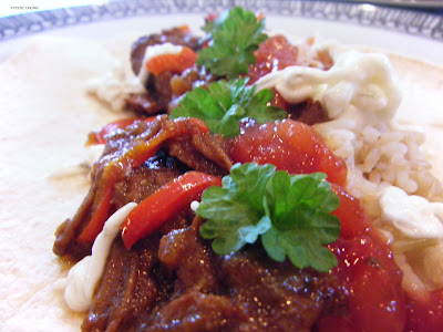 oxtail slow cooked fajitas