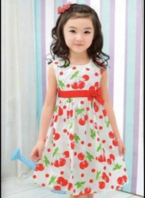 gaun motif bunga lucu untuk anak perempuan