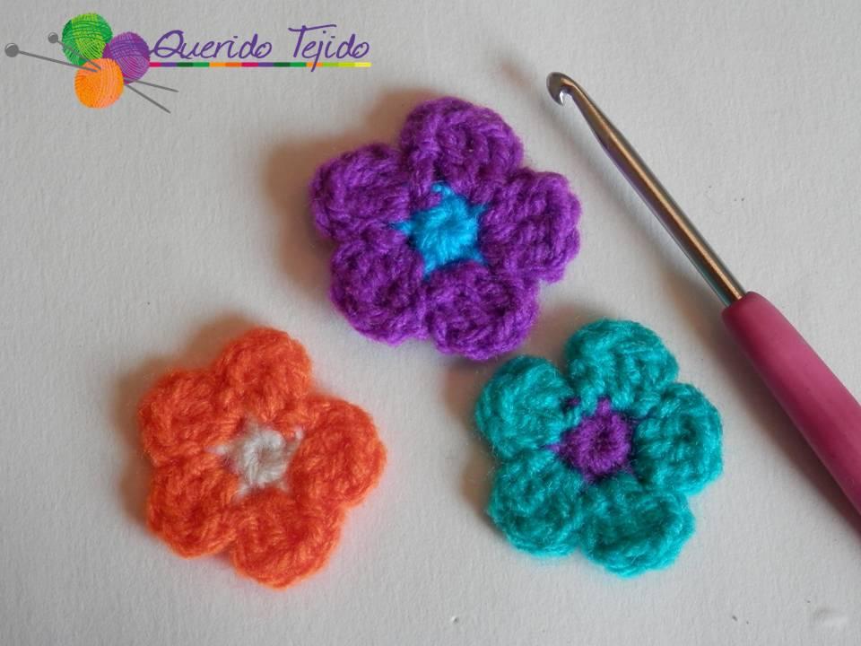 Querido Tejido: Flor sencilla de 5 pétalos a crochet