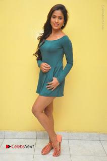 Telugu Actress Prasanthi Stills in Green Short Dress at Swachh Hyderabad Cricket Press Meet  0135.JPG