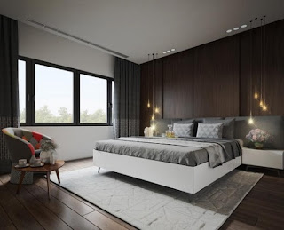 Habitación paneles de madera