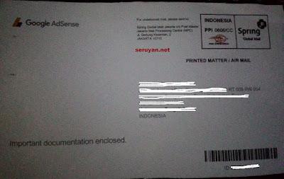 Surat PIN Adsense