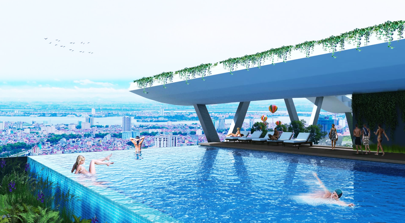 Bể bơi vô cực Skyline Tây Hồ