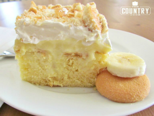 Banana Pudding Poke Cake by The Country Cook