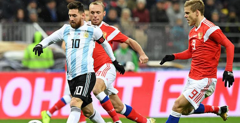 c95e3744f On Pitch  Argentina and Russia 2018 Adidas Home Kits