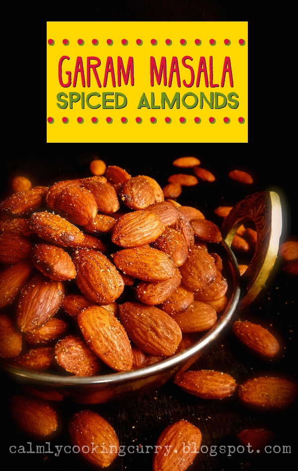 indian, garam masala, almonds, easy, recipe, simple, spicy, roasted, vegan,