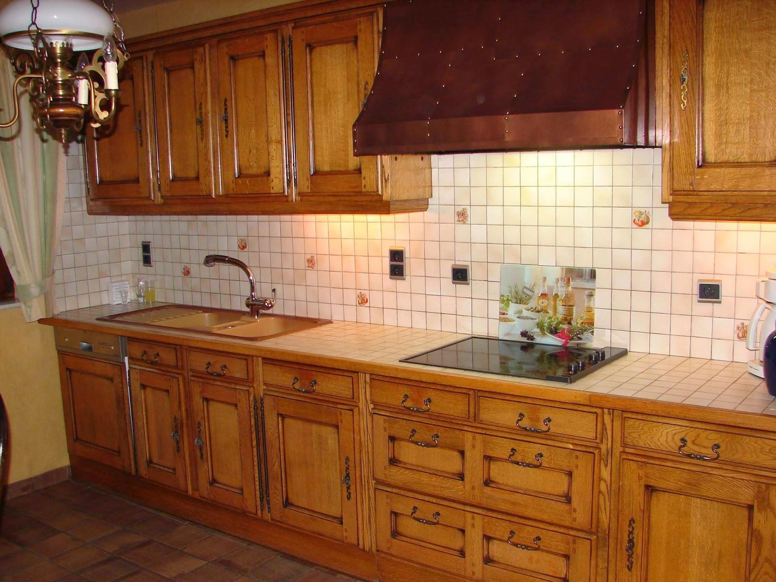 renovatie, zandstralen van eiken keuken