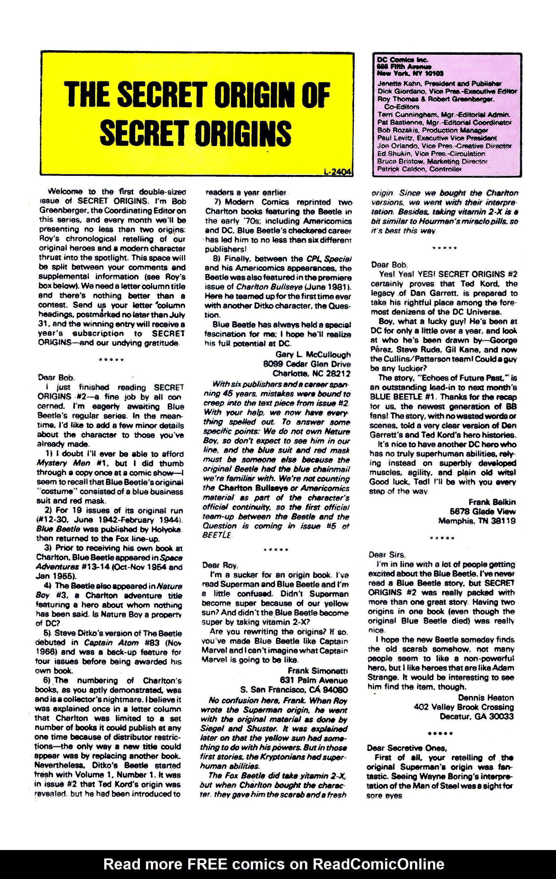 Read online Secret Origins (1986) comic -  Issue #6 - 49