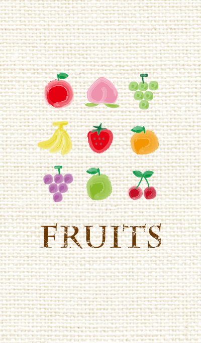 fruits Theme -watercolor style-