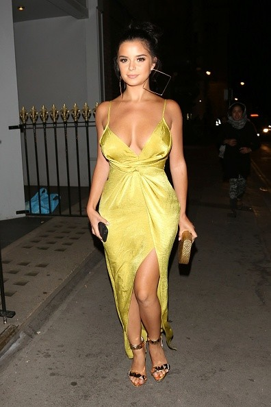 Demi Rose Flaunts Her Eye-Popping Curves In Slinky Gown