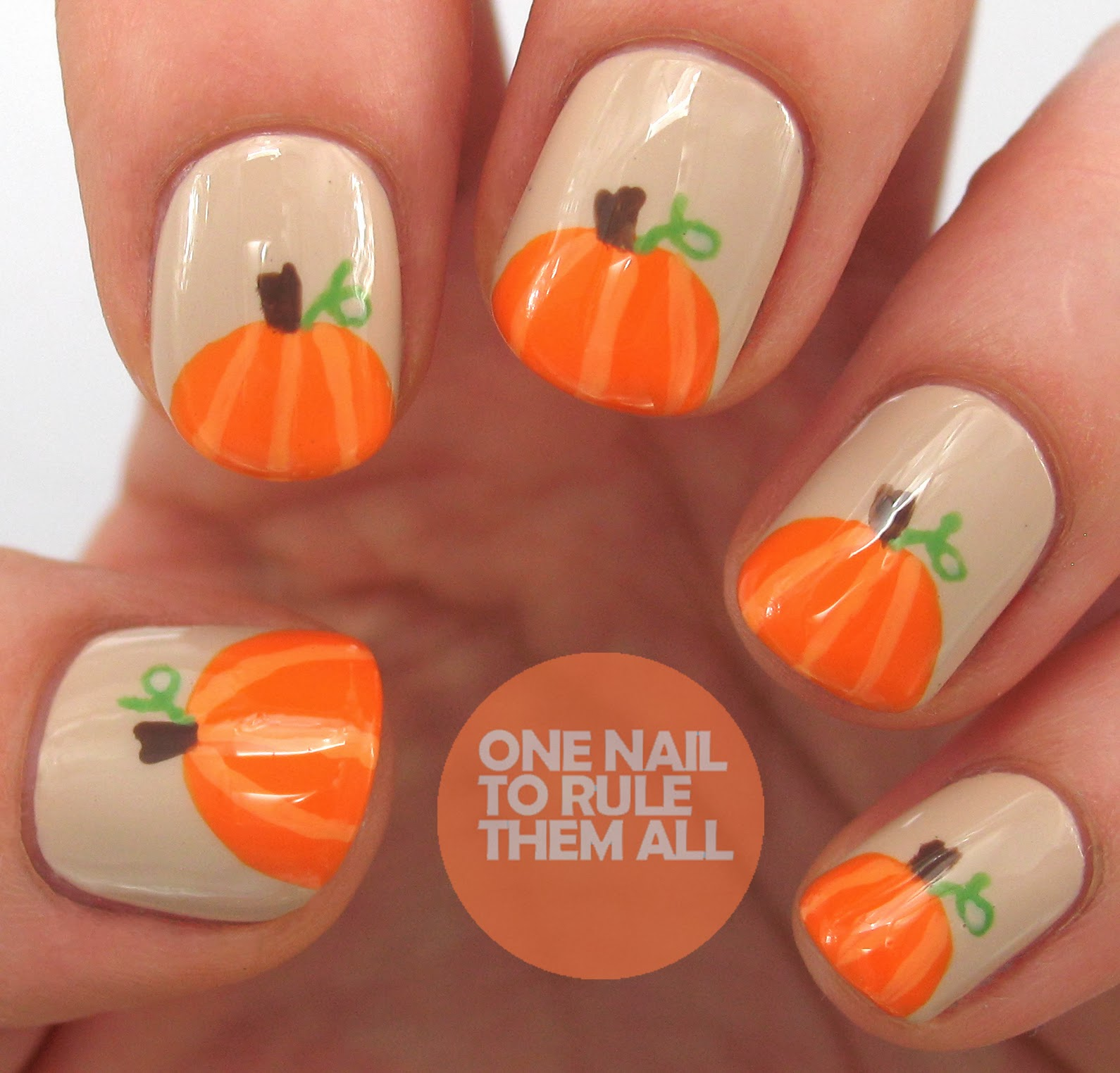 One Nail To Rule Them All: Then and Now: Pumpkins + Tutorial