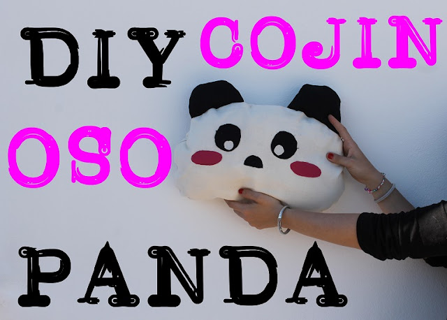 diy cojin oso panda