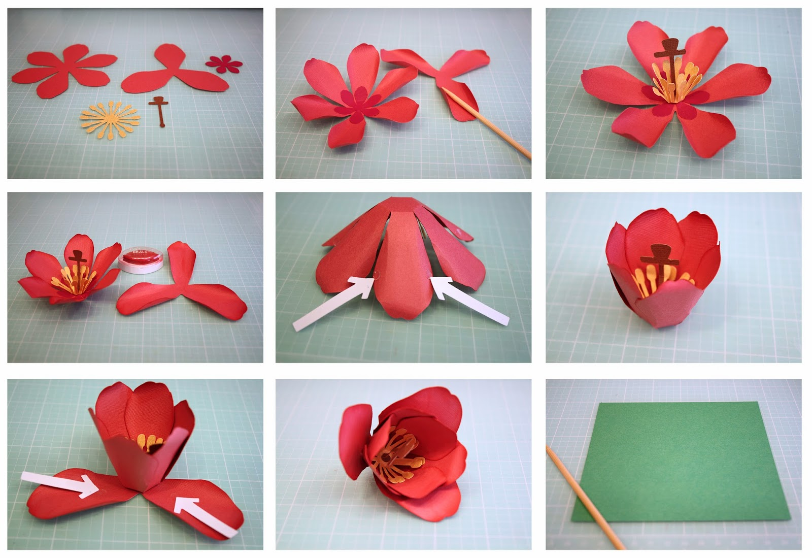 Simple Origami Tulips