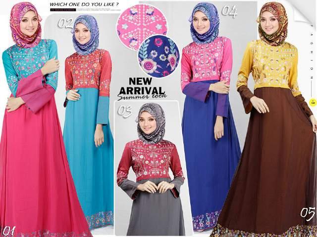 Kumpulan Baju Muslim Gamis Untuk Remaja Model Terbaru Saat