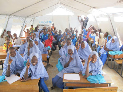 . UNICEF Nigeria is providing school bags, desks, school uniforms