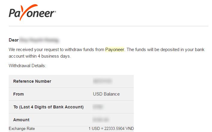 Mình đã có các bài viết hướng dẫn và nếu bạn đăng ký Payoneer thông qua bài  viết của mình thì sẽ được thưởng 25$ nhé.