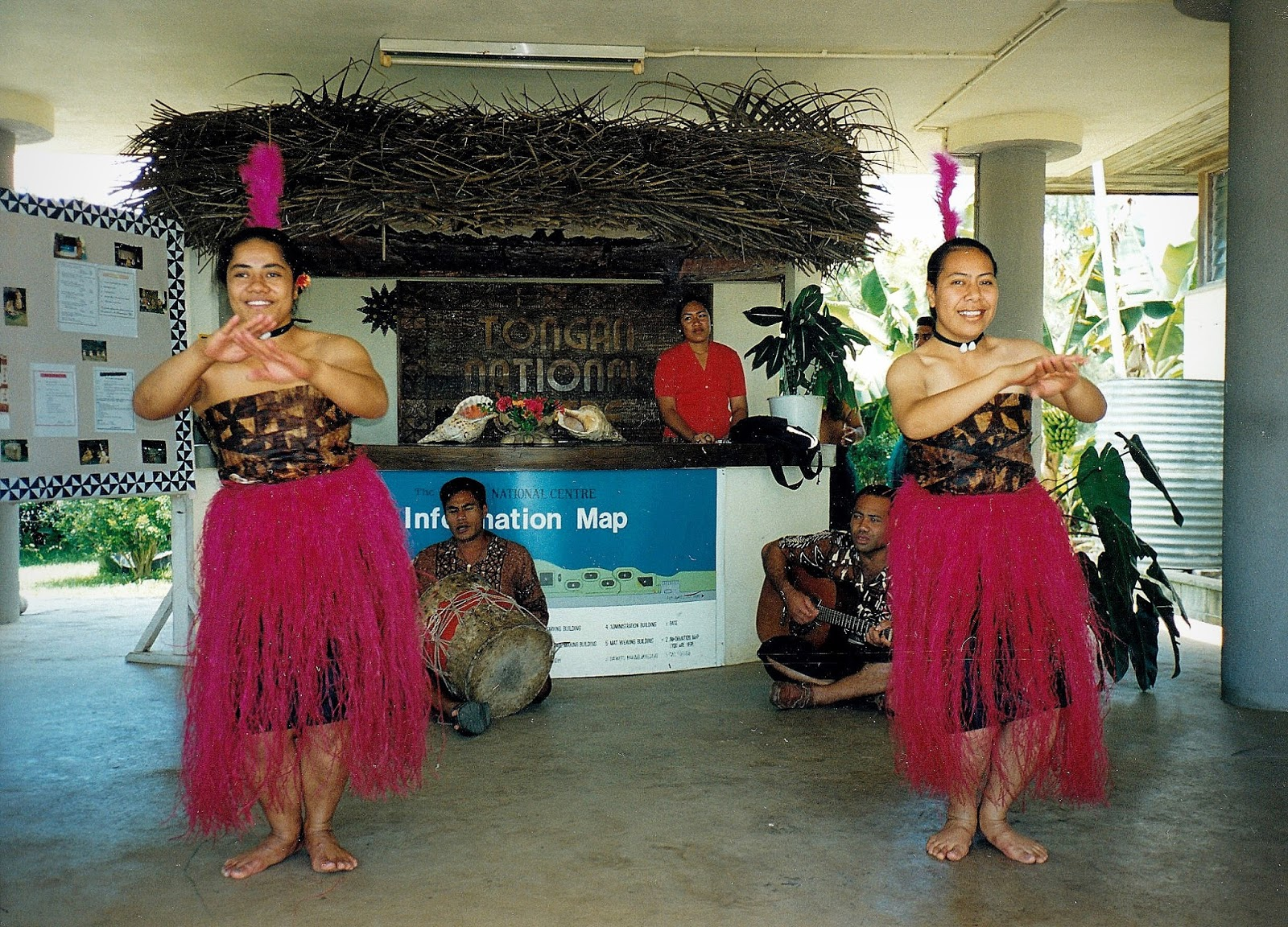 At this Tongan feast, there was also a dancing performance!