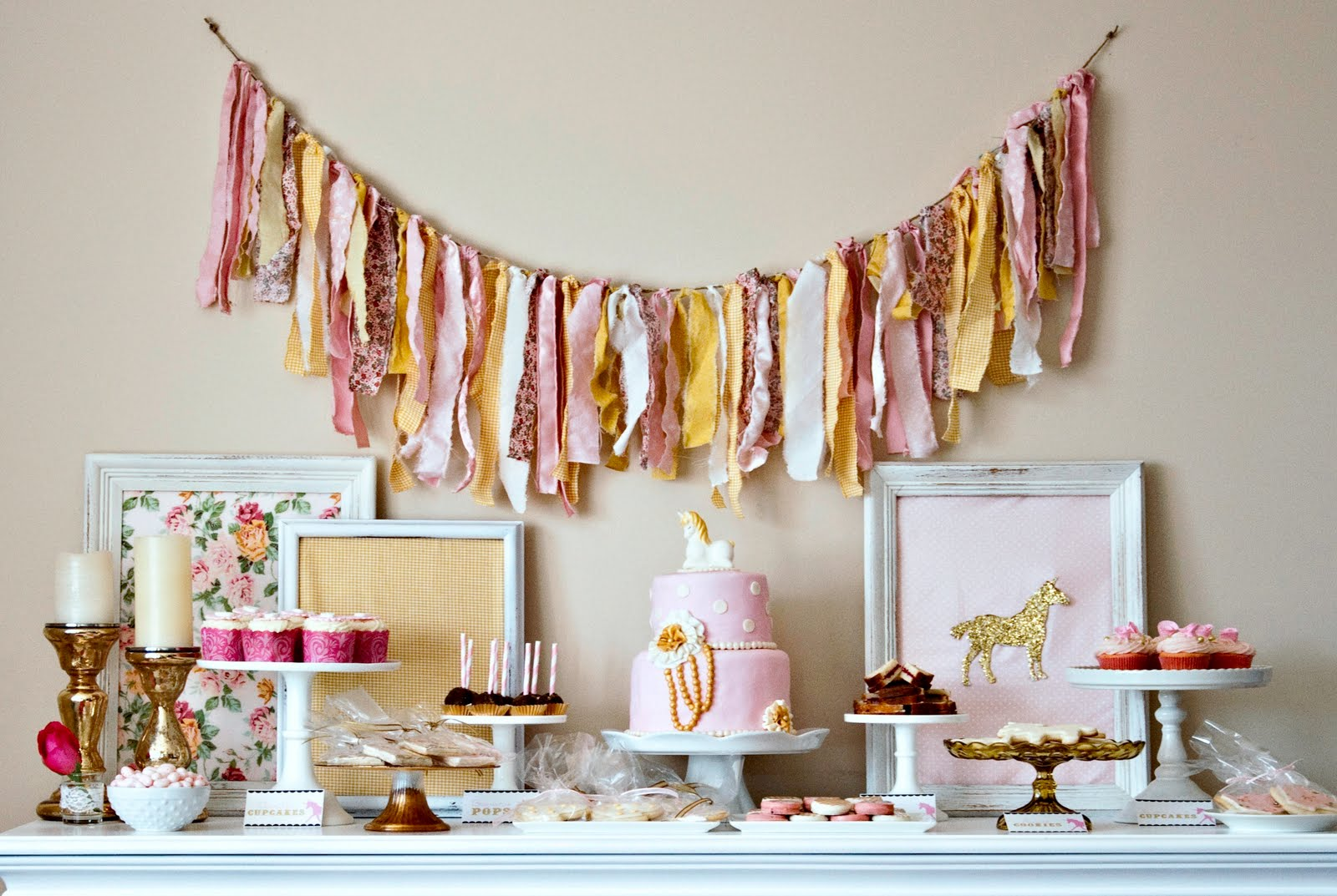 Candy And Cake A Unicorn Themed Tea Party