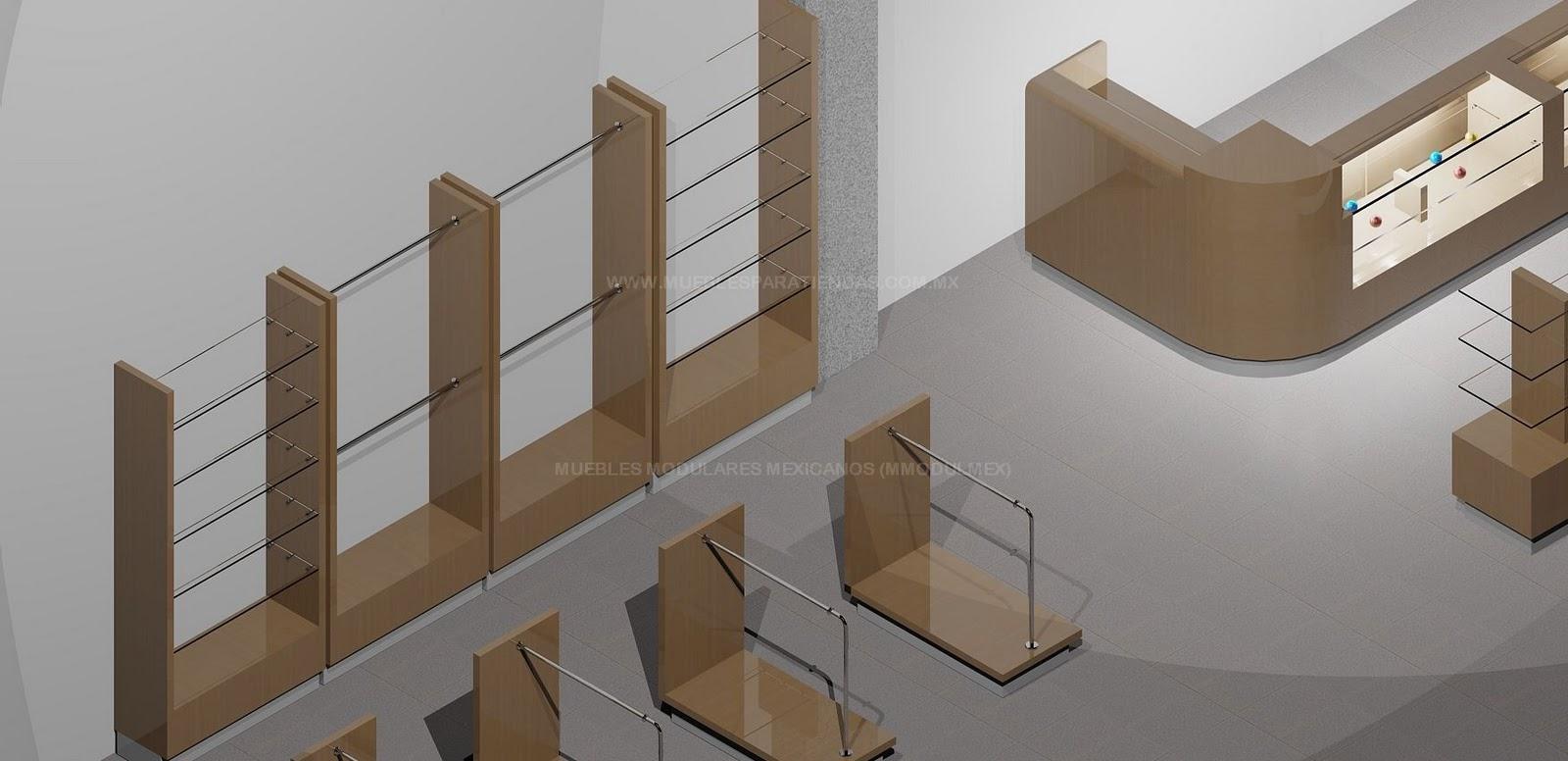 Mostradores de tiendas vitrinas para farmacias muebles for Muebles para ropa