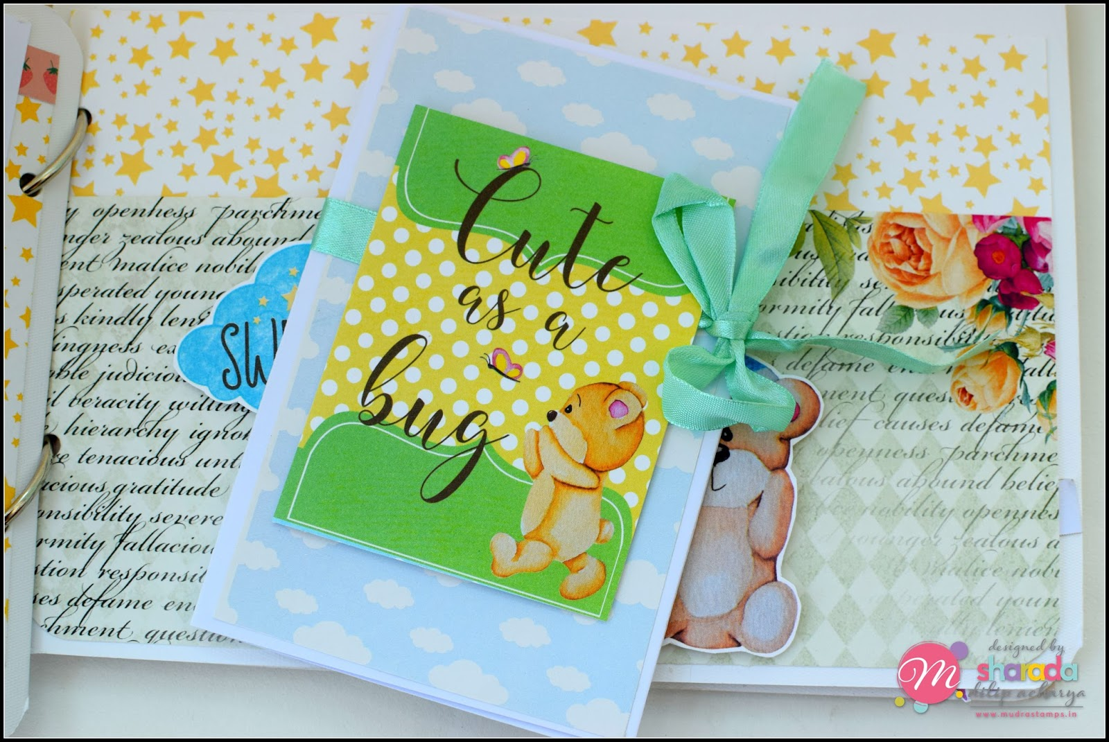 Mudra Craft Stamps: Thanks with a Flower Bunch !