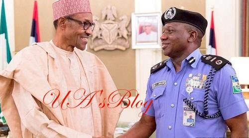 BREAKING: Buhari in closed door meeting with IG of Police, Idris Kpotum