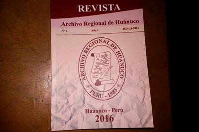 Revista Archivo Regional de Huánuco
