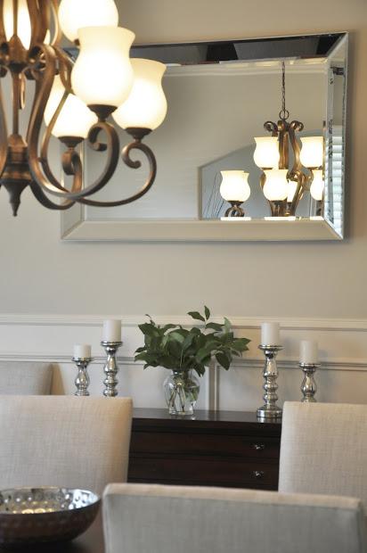 dining room progress drapes & mirrors