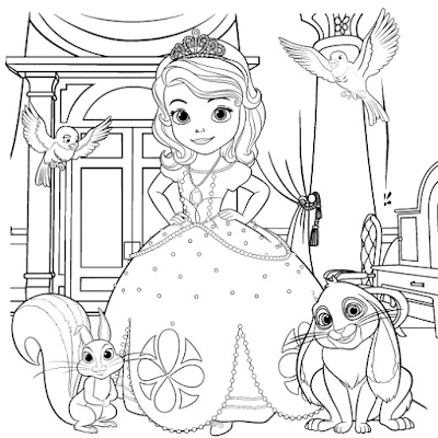 Gambar Mewarnai Putri Sofia - 9
