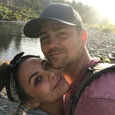 Janel Parrish and boyfriend Chris Long Celebrate one year anniversary at Jedediah Smith Redwoods State Park in California