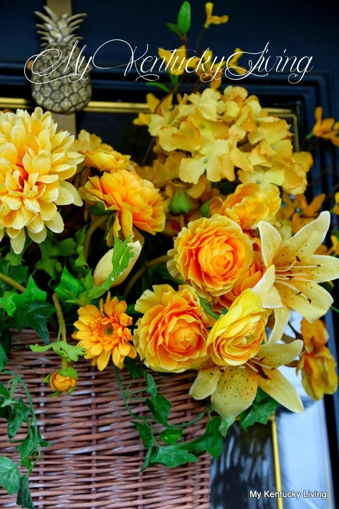 Door basket floral arrangement