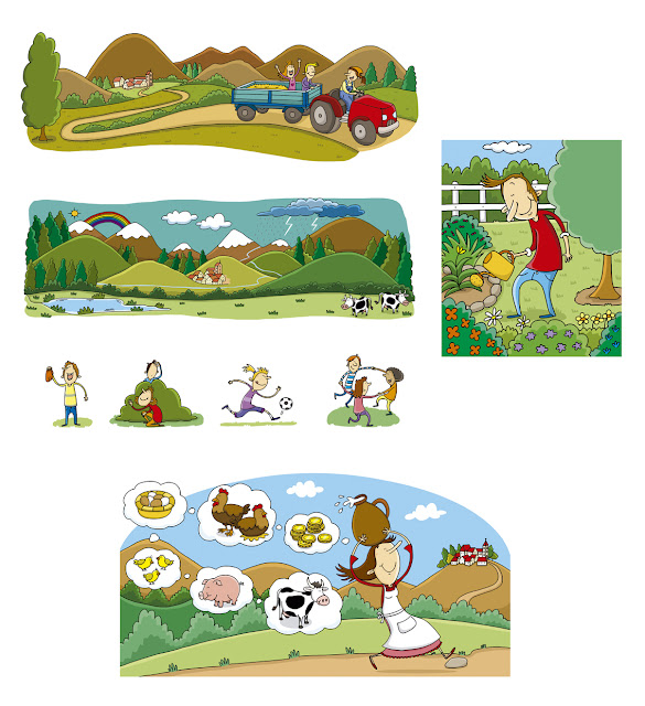 personajes 4, ana sáez del arco, illustration, ilustración