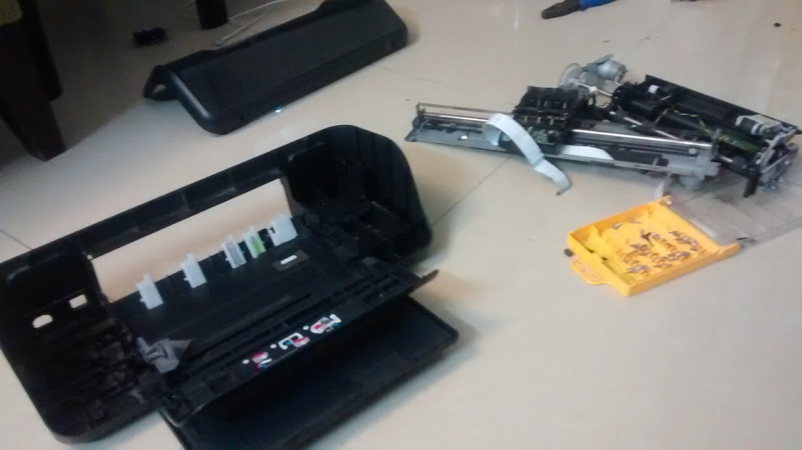 Old inkjet printer hacking with Arduino and motorshield- IDEAS