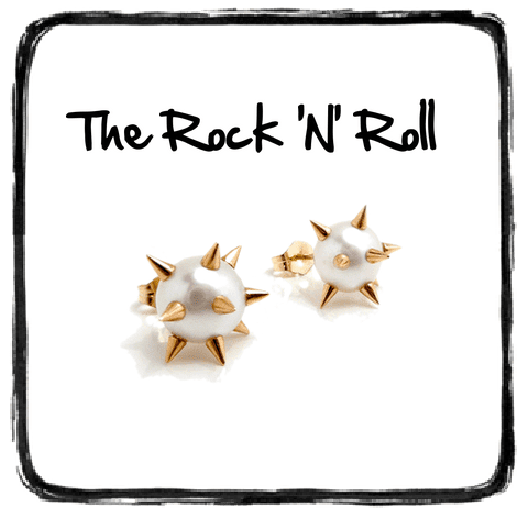 Pearl Studs with Spikes Nektar De Stagni Jewellery Curaated
