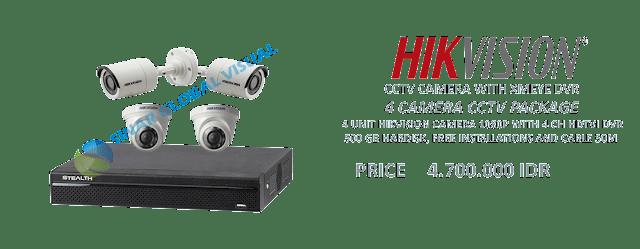 Paket Pasang 4 Kamera CCTV HIKVISION Murah